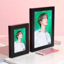 Kpop BTS Bangtan Boys Photo Frame Living Room Bedroom Solid Wood Decoration Photo Frame 5 inch 8 inch Star Photo