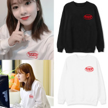 Kpop IZONE Sweater with the same Round Neck Sweater Loose and Velvet Thin Autumn and Winter Tops