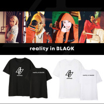 Kpop MAMAMOO T-shirt Album REALITY IN BLACK with the same Short-sleeved Bottoming Shirt
