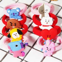 Kpop BTS Bangtan Boys Hair Rope Cartoon Cute Doll Hair Ring New Student Headdress Tie Hair CHIMMY KOYA TATA