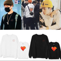 Kpop GOT7 Sweatshirt BULLET TO THE HEART The Same Paragraph Round Neck Sweater JACKSON