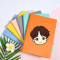 Kpop BTS Notebook Bangtan Boys Seoul Q Version Cartoon Cute Notebook Imitation leather Diary Student Supplies
