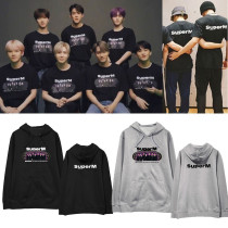 Kpop Super M Sweatshirt KAI BaekHyun Lee Taemin Same Hooded Sweatshirt Plus Velvet Hoodie