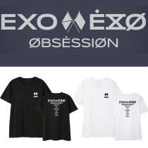 Kpop EXO 6 Sixth Series OBSESSION Peripheral T-shirt Korean Loose Short Sleeve Bottoming Shirt