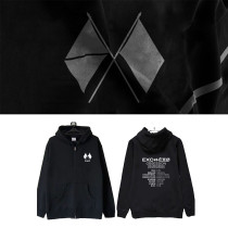 Kpop EXO Sweatshirt OBSESSION The same Style Zipper Sweater Plus Velvet Autumn and Winter Coat Hoodie