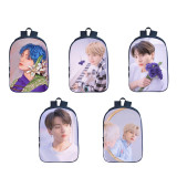 Kpop BTS School Bag Bangtan Boys 3D Backpack Digital Printing Casual Fashion Middle School Students Casual Backpack