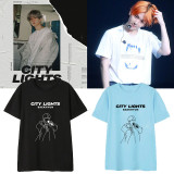 Kpop EXO T-shirt Album City Lights Korean Loose Short-sleeved T-shirt BaekHyun