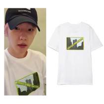 Kpop EXO T-shirt BAEKHYUN same Short-sleeved T-shirt Korean Loose Bottoming Shirt