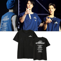 Kpop GOT7 T-shirt Concert KEEP SPINNING Jackson Wang same Clothes Summer Short Sleeve Shirt