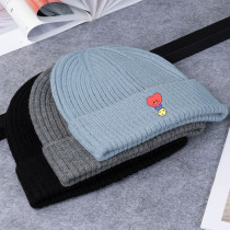 Kpop BTS Bangtan Boys Hat New Cute Knitted Hat Wool Hat Cold Warm Couple Hat Winter Knitted Hat