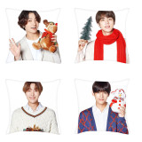Kpop BTS Christmas Pillow Case 3D Digital Print Single PillowCase Waist e Sofa Cushion Pillow Case V SUGA JIN