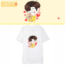 Kpop GOT7 T-shirt Same Cartoon Korean Loose Short-sleeved T-shirt Bottoming Shirt Top