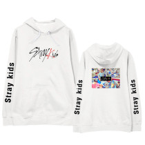 Kpop Stray Kids Hooded Sweater Plus Velvet Thin Coat Korean New Loose Hoodie Top