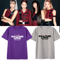 Kpop BLACKPINK Short-sleeved T-shirt Album KILL THIS LOVE Around the Same Short-sleeved T-shirt