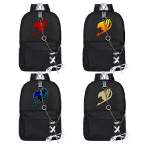 Kpop Anime Fairy Tail Pattern Printed Satchel Chain Backpack Backpack Canvas Bag