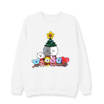 Kpop BTS Sweater Bangtan Boys Pullover Round Neck Sweatshirt Cartoon Cute Korean Couple Wear Top