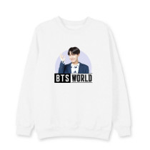 Kpop BTS World Sweatshirt Bangtan Boys Suga Around Round neck sweater  V SUGA JIN JUNG KOOK