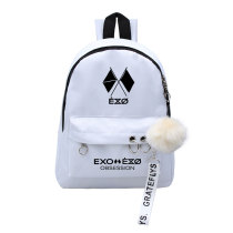 Kpop EXO Six Series BAEK HYUN CHAN YEOL Schoolbag Korean Student Cute Hanging Ball Backpack
