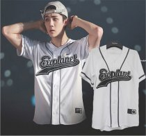 ALLKPOPER KPOP EXO PLANET#3 Baseball Uniform T-shirt EXO'rDIUM In Seoul Tshirt Chanyeol