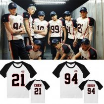 ALLKPOPER KPOP EXO Love Me Right Tshirt Raglan Sleeve T-Shirt Unisex Tee Sehun Chanyeol