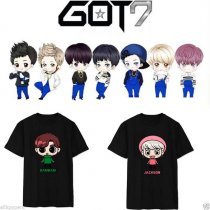 ALLKPOPER KPOP GOT7 Tshirt Cartoon T-shirt Jackson Unisex Tee New Mark Bambam Short Sleeve