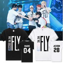 ALLKPOPER KPOP GOT7 1st Concert Tshirt FLY IN SEOUL Jackson T-shirt Tee Cotton Unisex Mark