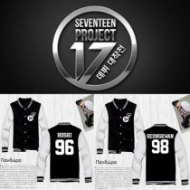 KPOP SEVENTEEN Baseball Uniform Unisex Shining Diamond Coat Varsity Jacket Outwear