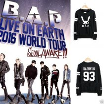 ALLKPOPER KPOP BAP B.A.P Sweater 2016 Live on earth TS Entertaiment Pullover Yong Guk