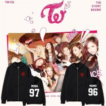 ALLKPOPER Kpop TWICE THE STORY BEGINS Zipper Cap Sweater NaYeon Unisex Coat Momo JiHyo