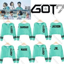 ALLKPOPER Kpop GOT7 Light Green Sweater FLIGHT LOG TURBULENCE Long Sleeve Shirt Hoodie