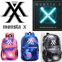 ALLKPOPER KPOP Monsta X Backpack THE CLAN Tarry Sky Satchel New School Bag Showun WONHO