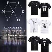ALLKPOPER Kpop EXO EX'ACT T-shirt baseball uniform Short-sleeved Chanyeol Baekhyun Tshirt