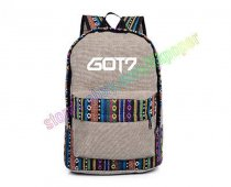 ALLKPOPER Kpop GOT7 Backpack Jackson JB JR MARK BAMBAM Cavas Schoolbag National Bag Satchel