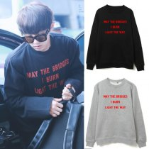 ALLKPOPER KPOP EXO Chanyeol Airport Fashion Sweater Unisex Christmas Sweatershirt Hoodie