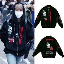 ALLKPOPER KPOP BTS JIMIN Coat Baseball Uniform New Bangtan Boys Varsity Jacket