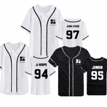 ALLKPOPER Kpop BTS WINGS T-shirt Bangtan Boys Short Sleeve Baseball Uniform Tshirt