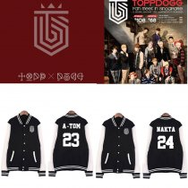 ALLKPOPER Kpop TOPP DOGG [Dogg`S Out] Baseball Uniform Coat Unisex Varsity Jacket Outwear