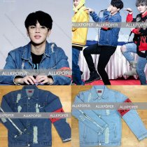 ALLKPOPER Kpop BTS JIMIN Denim Jacket EXO Luhan Kris Coat Bangtan Boys Wings Outwear