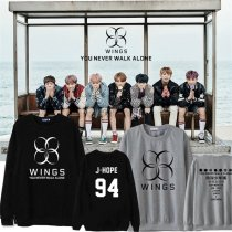 ALLKPOPER KPOP BTS Wings You Never Walk Alone Sweater Unisex Bangtan Boys Pullover Hoodie