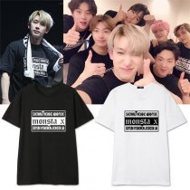 ALLKPOPER KPOP Monsta x Japan Concert Tshirt Unisex HYUNGWON T-shirt JOOHEON Cotton SHOWNU