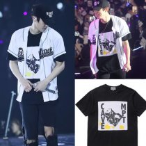 ALLKPOPER KPOP EXO Chanyeol T-shirt Unisex EXO'rDIUM In Seoul Tshirt Short Sleeve Cotton