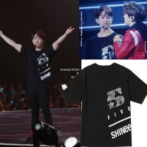 ALLKPOPER KPOP SHINEE Five World Tour Tshirt ONEW T-shirt Unisex Short Sleeve Cotton Tee
