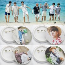 ALLKPOPER Kpop BTS Badge Bangtan Boys Summer Package IN DUBA JUNG KOOK V Brooch Chest Pin