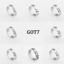 ALLKPOPER KPOP GOT7 Ring Fashion JB Jackson Mark Bambam Youngjae JR Stainless Finger Ring
