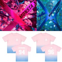 ALLKPOPER KPOP Monsta x BEAUTIFUL T-shirt SHOWNU Gradient Tshirt Unisex Short Sleeve I.M