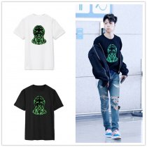 ALLKPOPER KPOP Ikon Junhoe T-shirt Airport Fashion Tshirt Tops Unisex Short Sleeve Cotton