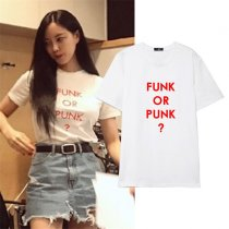 ALLKPOPER Kpop Park Hyo Min T-shirt 2017 New Letter Tshirt Casual Cotton Tee Short Sleeve