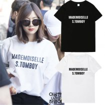 ALLKPOPER Kpop Apink Oh Ha Young Tshirt 2017 New Street Shooting T-shirt Casual Tee