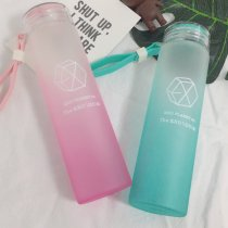 ALLKPOPER KPOP EXO Water Cup For Life Gradient Glass Bottle Frosted Drink XIUMIN DO Kai