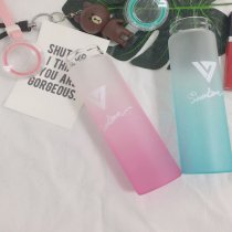 ALLKPOPER KPOP SEVENTEEN 17 Water Cup AI1 Gradient Glass Bottle Frosted Drink WONWOO DK